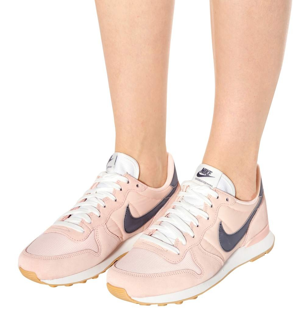 nike internationalist femme kaki rose