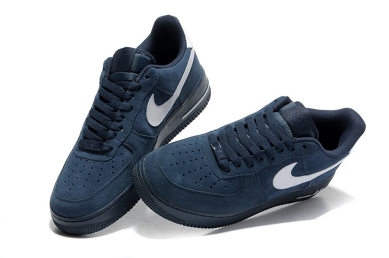 Force 1 Suede Low Bleu Air Nike UzpGSVMq