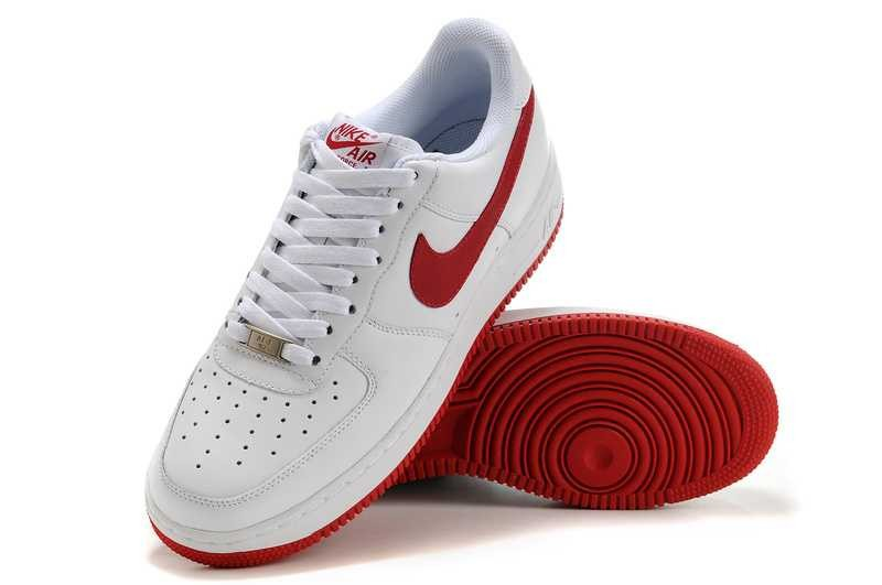 save off 9845e c23f2 nike air force 1 blanche et rouge