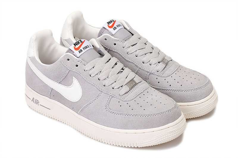Air Et Nike Gris Blanc Force 1 QtrdCshx