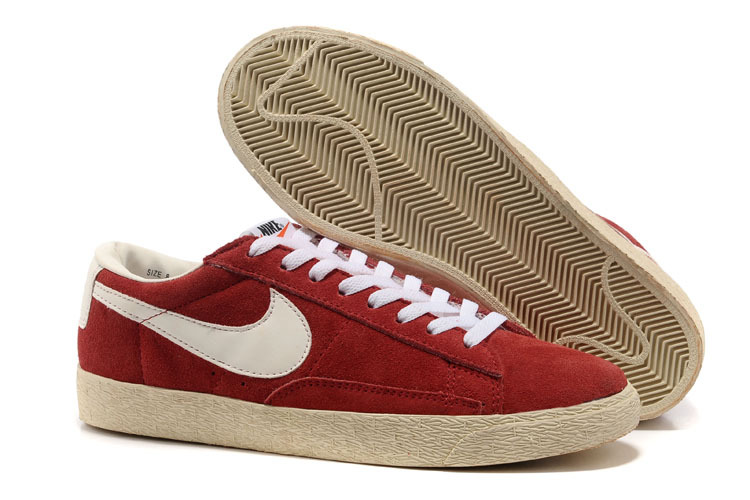 nike blazer low rouge homme